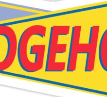 Hedgehog Drive In Sticker