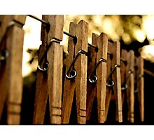 Clothes Pins Photographic Print