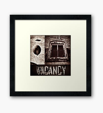 Vacant Expression Framed Print