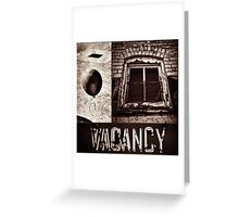 Vacant Expression Greeting Card