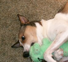 Phoebe with her BoBo! by Dot Crowe