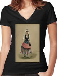 Fancy dresses described or What to wear at fancy balls by Ardern Holt 214 Normandy Women's Fitted V-Neck T-Shirt