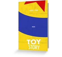 Toy Story Minimalist Movie Poster Greeting Card