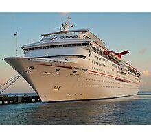 Docked Cruise ship Photographic Print