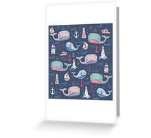 Whale Toss Greeting Card