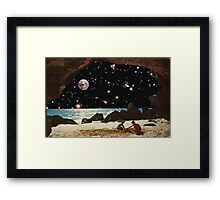 it's always sunny in space Framed Print