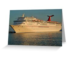 Docked Cruise ship Greeting Card
