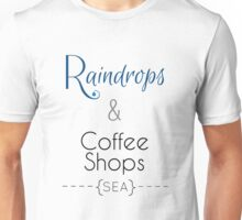Seattle Raindrops and Coffee Shops Unisex T-Shirt