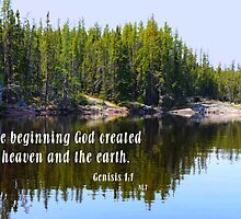 In The Beginning, Genisis 1:1 by MaeBelle