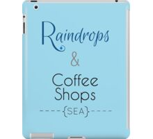 Seattle Raindrops and Coffee Shops iPad Case/Skin