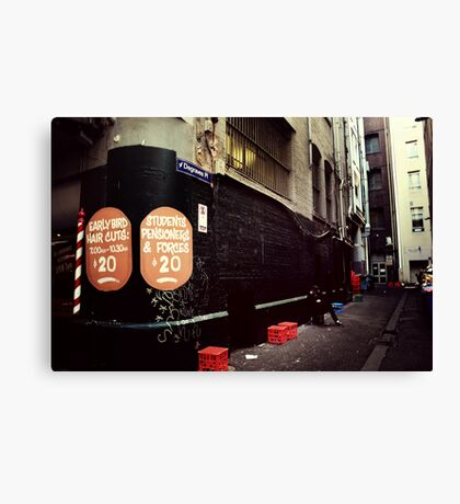 Melbourne streetscape Canvas Print