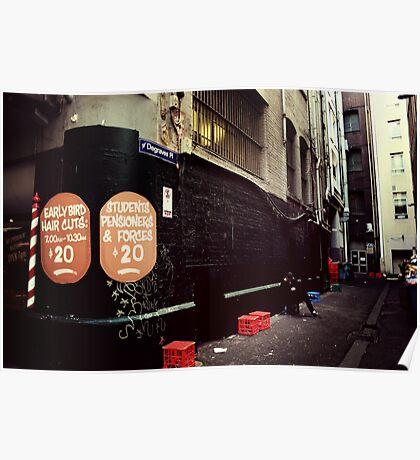 Melbourne streetscape Poster
