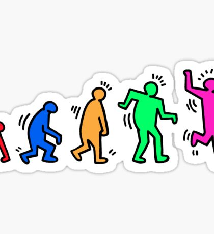 HARING EVOLVES by Tai's Tees Sticker