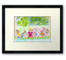 teddy bears picnic Framed Print