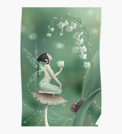 Lily of the Valley Flower Fairy Poster