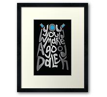 Good Dalek Framed Print