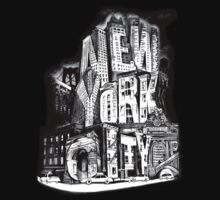 New York City Pencil by Tai's Tees Baby Tee