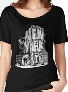 New York City Pencil by Tai's Tees Women's Relaxed Fit T-Shirt