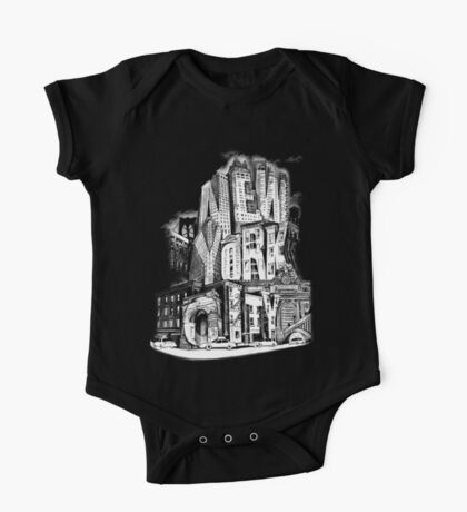 New York City Pencil by Tai's Tees One Piece - Short Sleeve