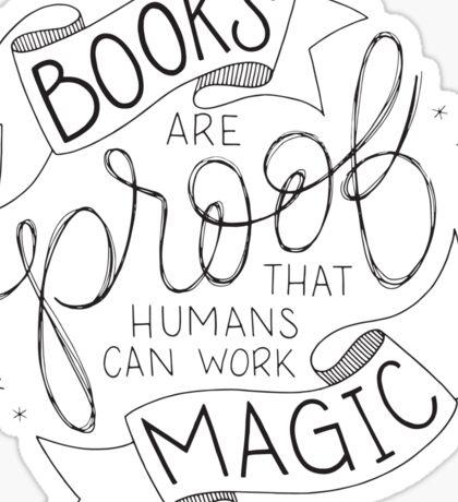 Books Are Magic Sticker