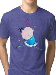 lovely Ballet dance 3 Tri-blend T-Shirt
