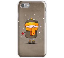 alone in the snow iPhone Case/Skin
