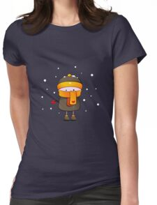 alone in the snow Womens Fitted T-Shirt