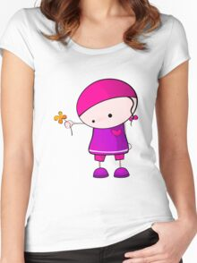 A flower for you Women's Fitted Scoop T-Shirt