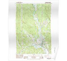 USGS Topo Map Washington State WA Castle Rock 240388 1984 24000 Poster