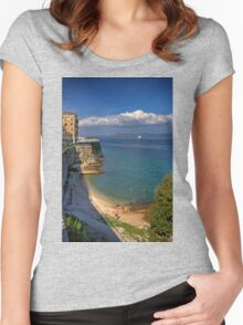 Swimming in Garitsa Bay Women's Fitted Scoop T-Shirt