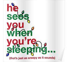 Creepy Santa Poster