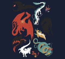 A Flight with Dragons One Piece - Long Sleeve