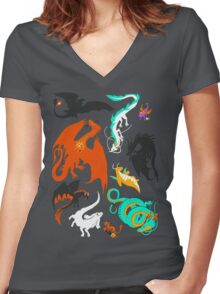 A Flight with Dragons Women's Fitted V-Neck T-Shirt