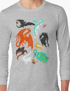 A Flight with Dragons Long Sleeve T-Shirt