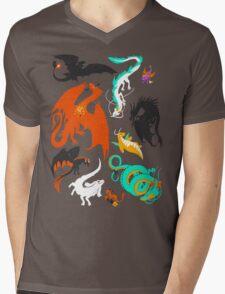 A Flight with Dragons Mens V-Neck T-Shirt