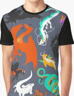 A Flight with Dragons Graphic T-Shirt