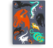 A Flight with Dragons Canvas Print