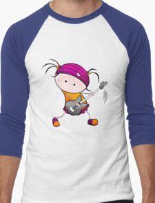 Rockstar Girl Men's Baseball ¾ T-Shirt