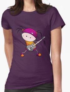 Rockstar Girl Womens Fitted T-Shirt