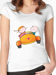 Lovely Road Trip Women's Fitted Scoop T-Shirt