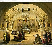 Calvary, The Church of the Holy Sepulcher, Jerusalem 1839 by Dennis Melling