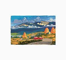 Vintage travel camper country landscape poster T-Shirt