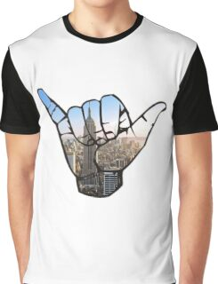 New York City Shaka Hand Graphic T-Shirt