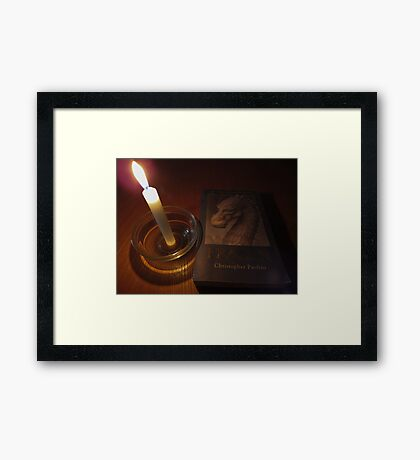 Of dragons and candles.. Framed Print