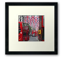 Getting ready for the Queen's Diamond Jubilee Framed Print