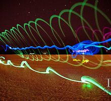 painting with light on beach 1 by Douglas Gaston IV