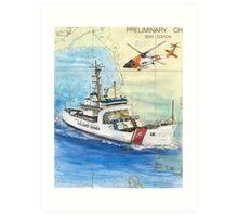 USCG Storis Nautical Chart Map Cathy Peek Art Print