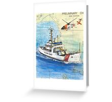 USCG Storis Nautical Chart Map Cathy Peek Greeting Card