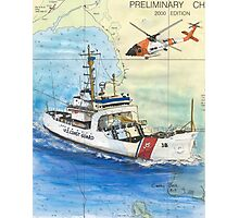 USCG Storis Nautical Chart Map Cathy Peek Photographic Print