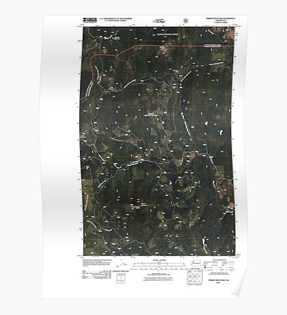 USGS Topo Map Washington State WA Timber Mountain 20110510 TM Poster